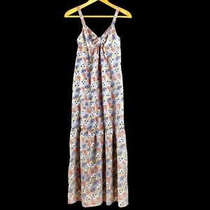 Johnny Martin Retro Floral Print Maxi Dress